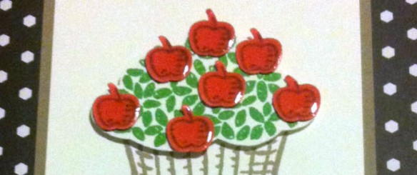 An Apple a Day… makes a happy stamper