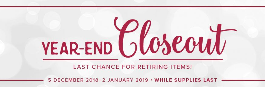 Year End Closeout Sale 2018